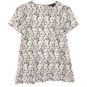 French Connection Marble Print Short Sleeve Top
